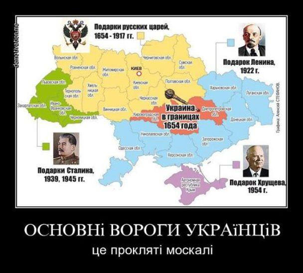 Подарки Украине от проклятых москалей