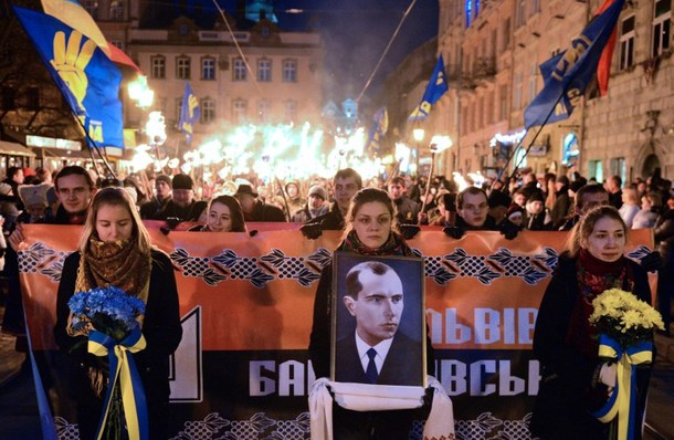 UKRAINE-POLITICS-BANDERA-NATIONALISTS-MARCH